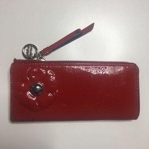 Coach poppy red wallet